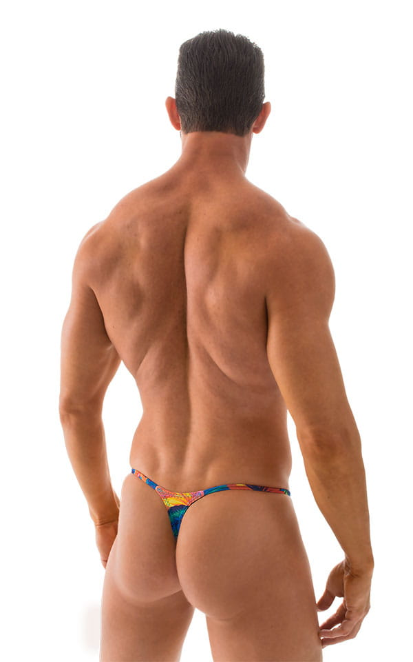 Smooth Pouch Skinny Sides Swim Thong in Tahitian Tan Through 3