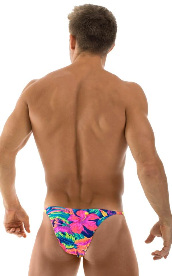 Skinny Side Half Back Swim Suit in Tahitian Tan Through 3