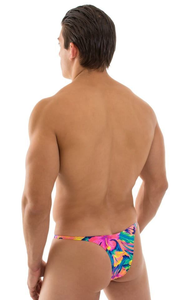 Sunseeker Micro Pouch Half Back Bikini in Tan Through Tahitian 3