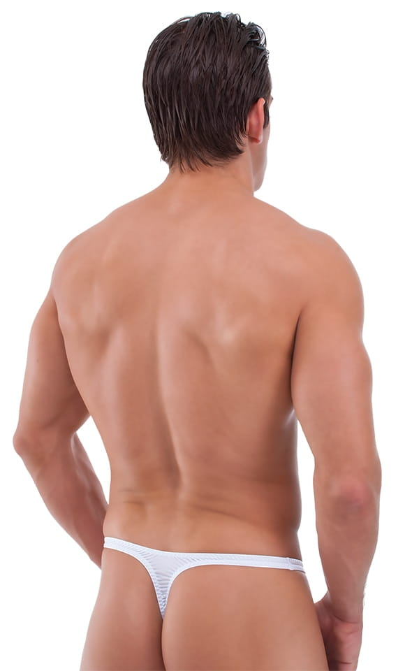 mens see-thru white thong rear