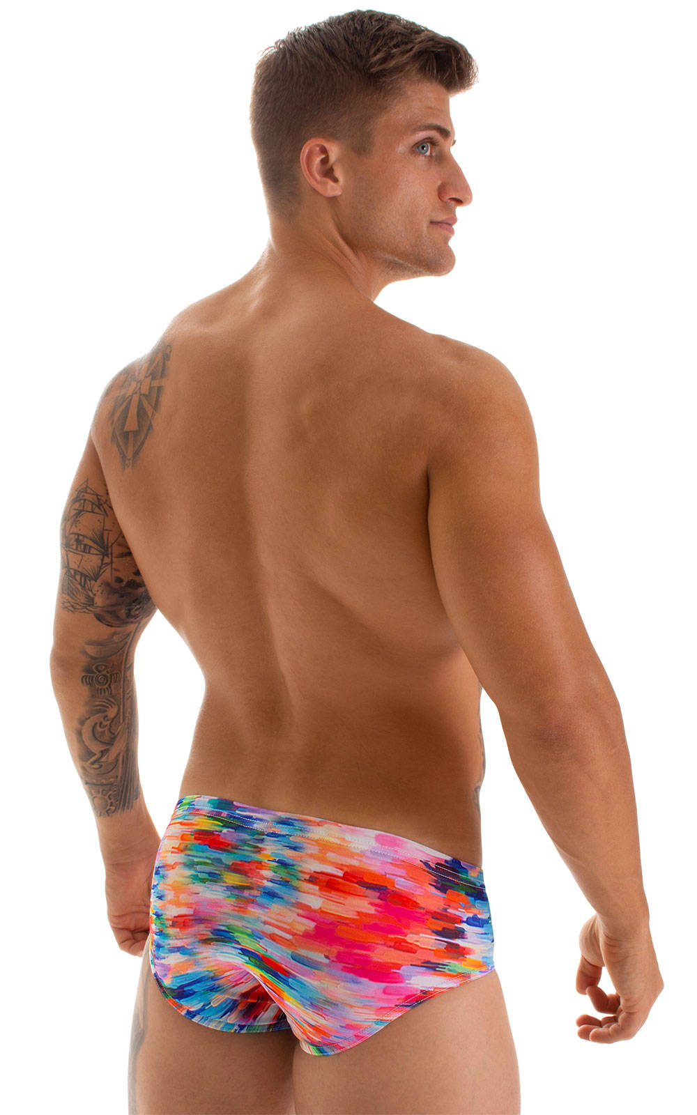 Pouch Brief Swimsuit in Watercolor Strokes 5