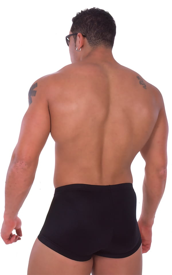 Fitted Pouch - Square Cut - Watersports Swim Trunks in Black 3