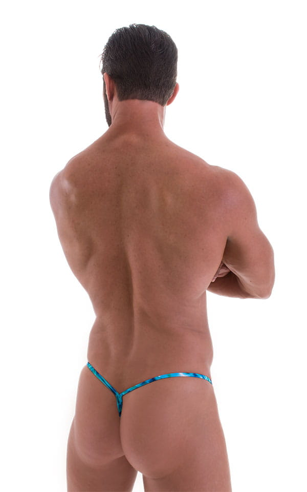 Y Back G String Swim Thong in Super Liquid Bahamas 3