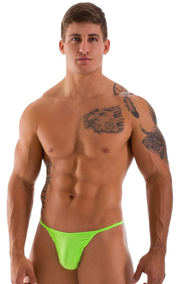 mens semi-sheer green g string