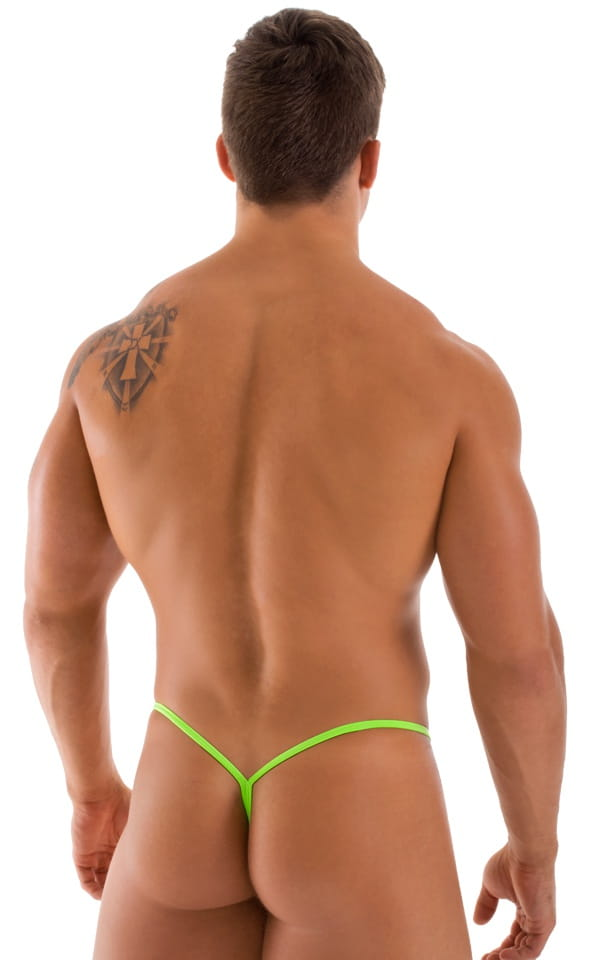 Y Back G String Swim Thong in ThinSkinz Neon Lime 3