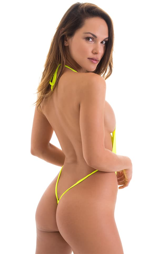 Vegas Micro Monokini G String in ThinSkinz Neon Chartreuse 3