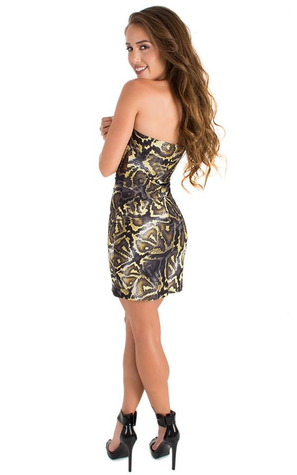 Mini Strapless Bodycon Dress in ThinSKINZ Giant Python 5