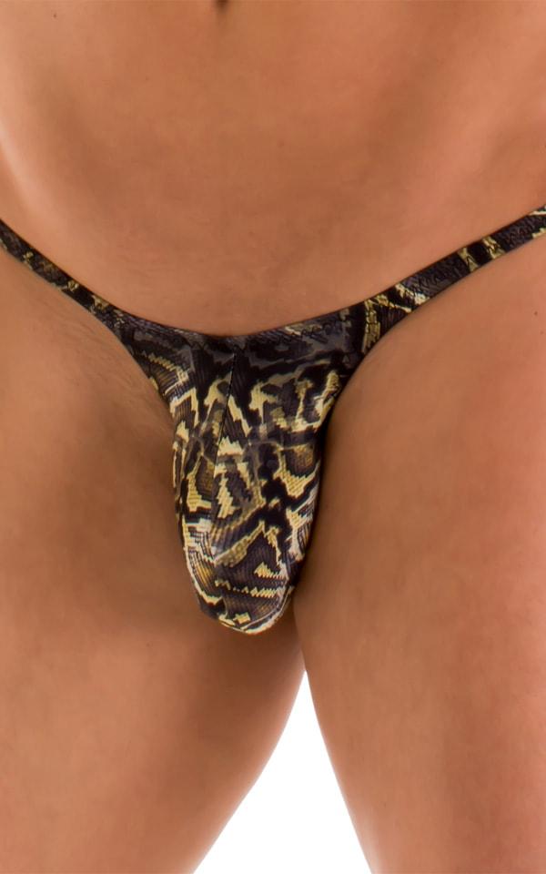 Sunseeker Micro Pouch Half Back Bikini in Super ThinSKINZ Coiled Python 3