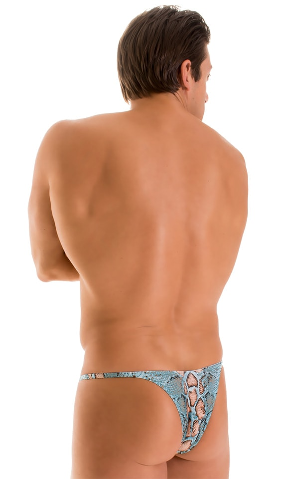 Sunseeker Micro Pouch Half Back Bikini in Super ThinSKINZ Aqua Python 1