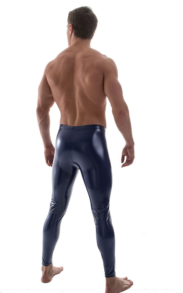 Mens Leggings Tights in Gloss Indigo Stretch Vinyl 3