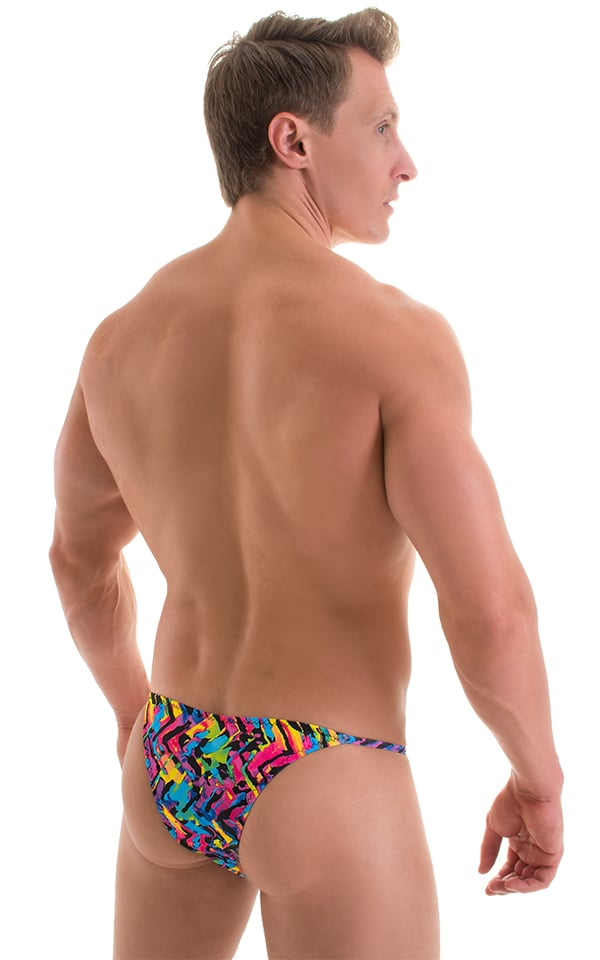 Super Low Brazilian Bikini in Neon Tye Dye 3