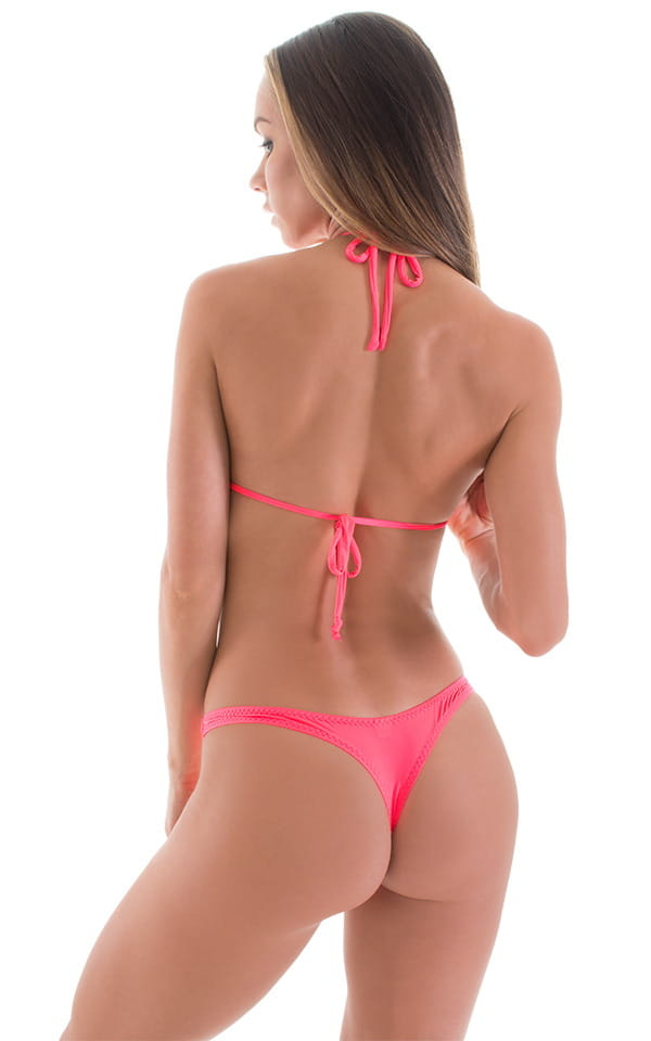 Low T Back Thong Bottom in ThinSKINZ Neon Coral 4