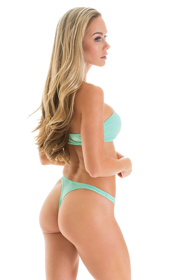 High Cut Thong Bottom in Mint 2