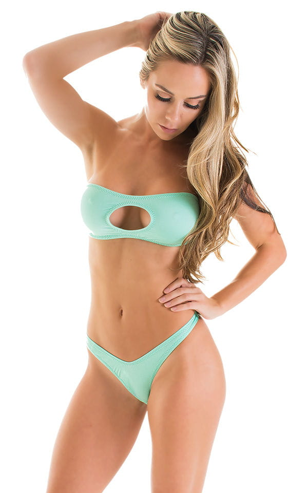 High Cut Thong Bottom in Mint 3