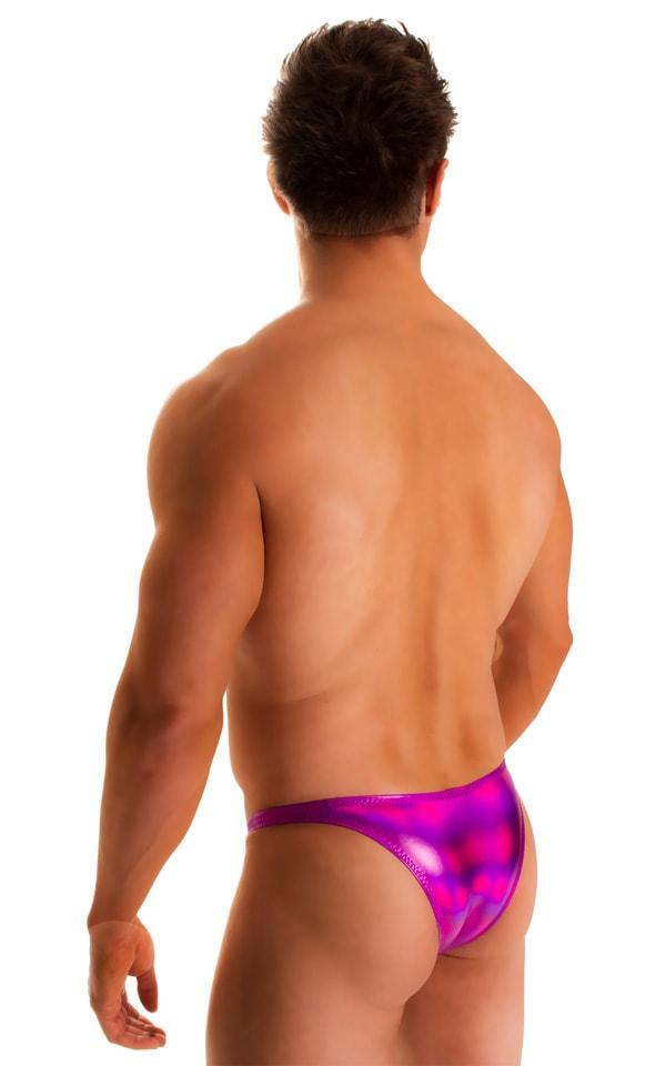 Rio Tanning Bikini Swimsuit in Holographic Liquid Fuschia 2