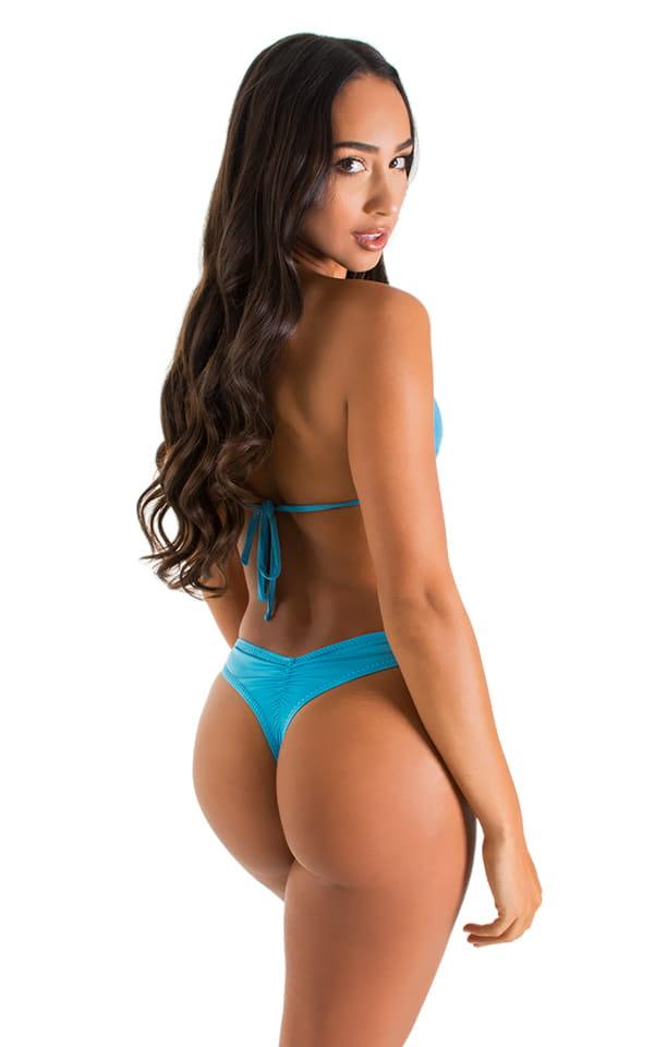 WhaleTail Thong Bikini Bottom in ThinSkinz Sapphire 3