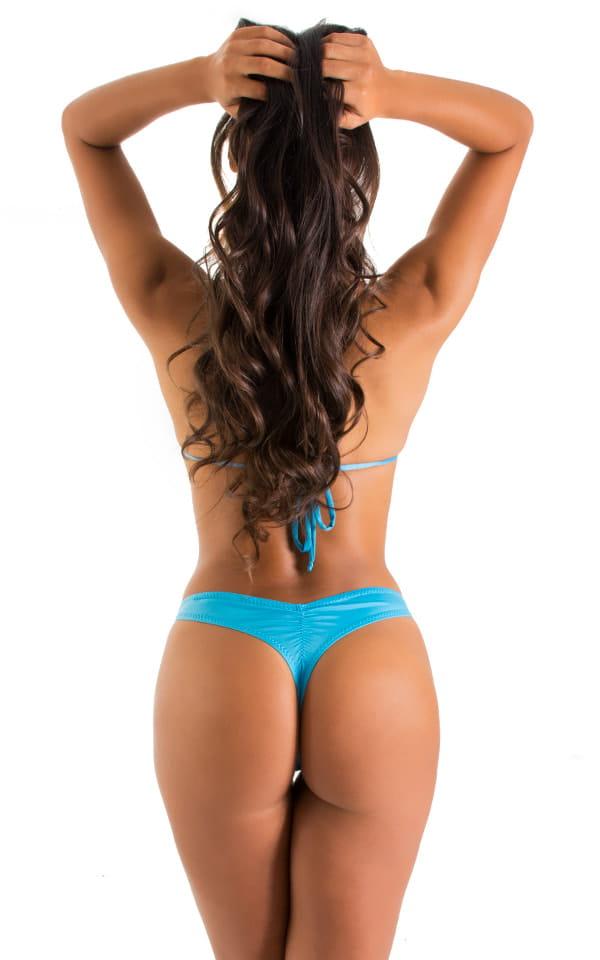 WhaleTail Thong Bikini Bottom in ThinSkinz Sapphire 5