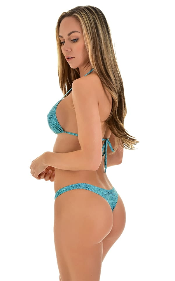 Low T Back Thong Bottom in Super ThinSkinz Seafoam 3