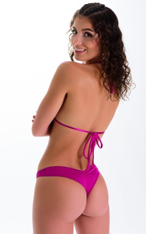 WhaleTail Thong Bikini Bottom in Magenta 2