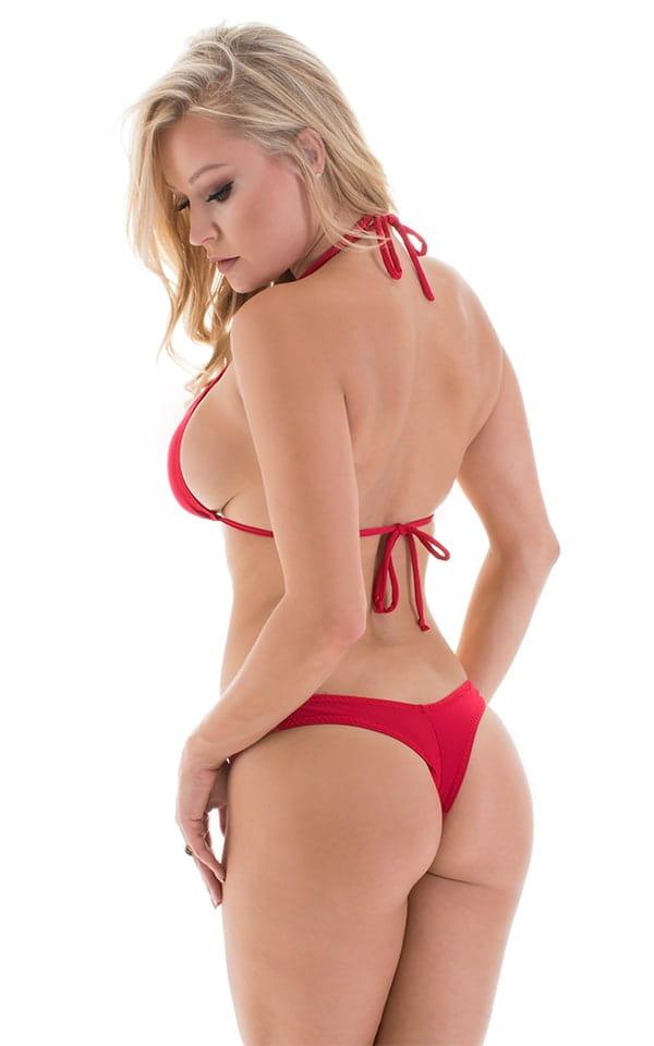 Micro Booty Thong Bikini in ThinSKINZ Red 3