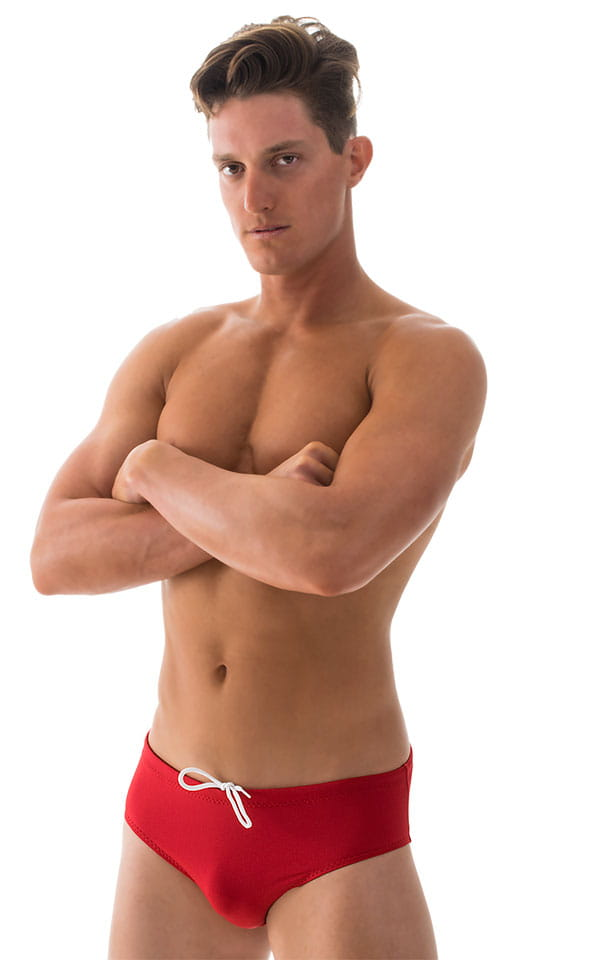 Swim-Dive Competition Brief in Lipstick Red 4