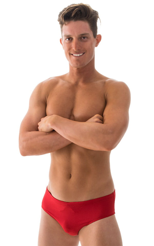Swim-Dive Competition Brief in Lipstick Red 1