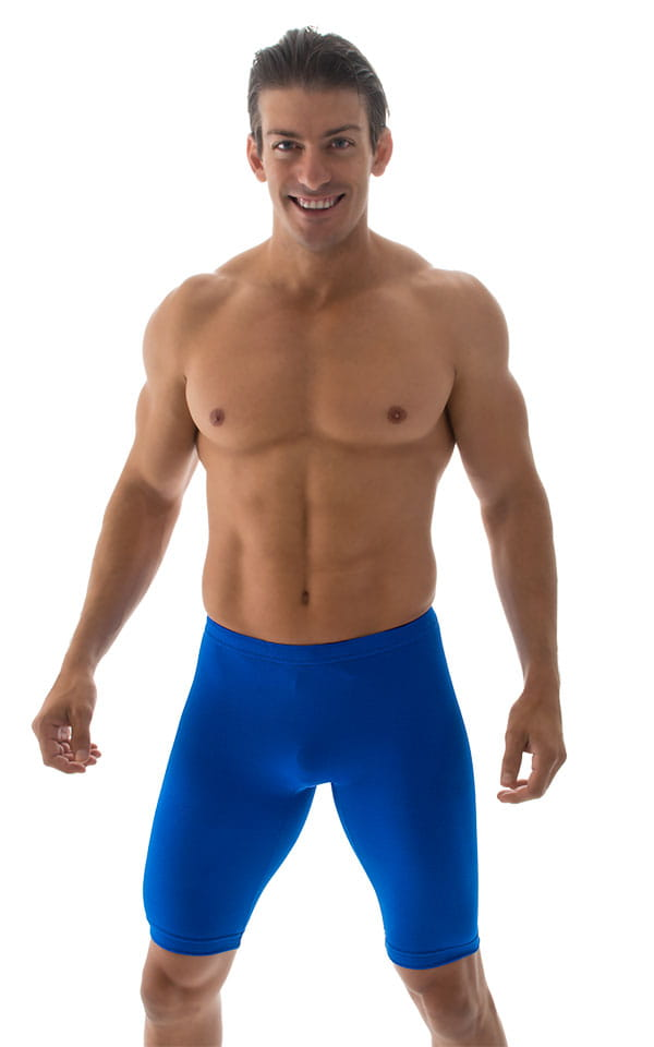 Mens-Bike-Length-Lycra-Shorts Front