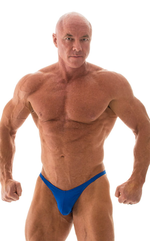 Fitted Pouch - Puckered Back - Posing Suit in Royal Blue 4