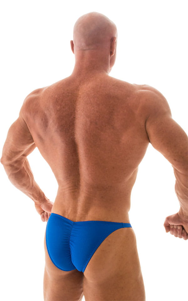 Fitted Pouch - Puckered Back - Posing Suit in Royal Blue 3