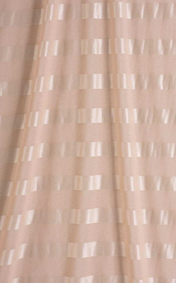 Sarong Wrap Beach Cover Up in Sand Satin Stripe Mesh Fabric