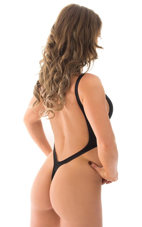 04550a5827a One Piece Thong Bikini in ThinSkinz Black
