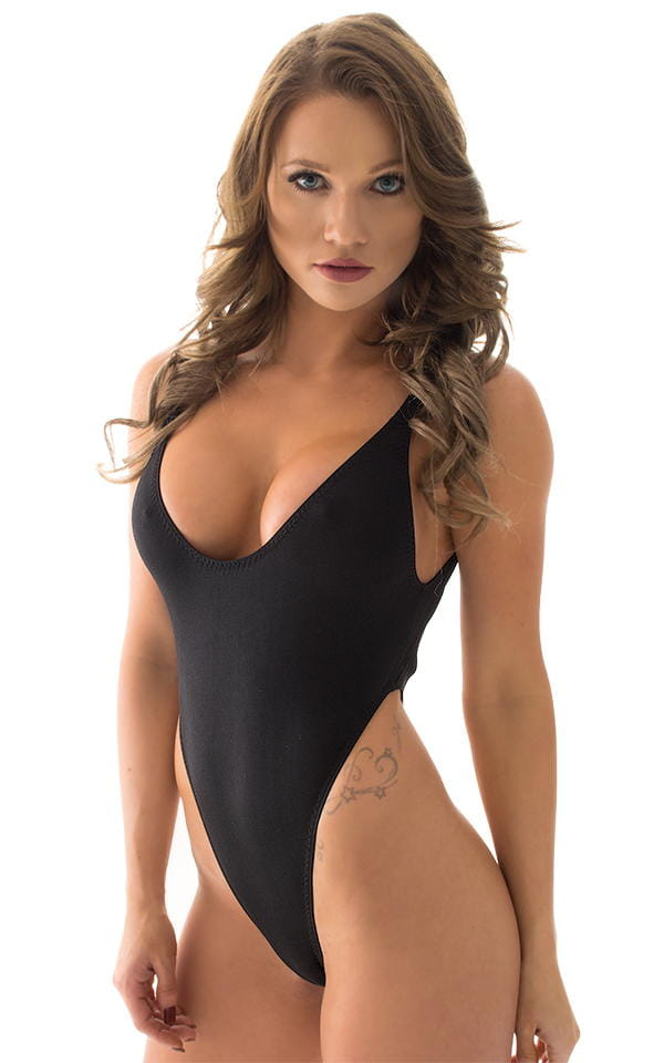 Sexy black one piece