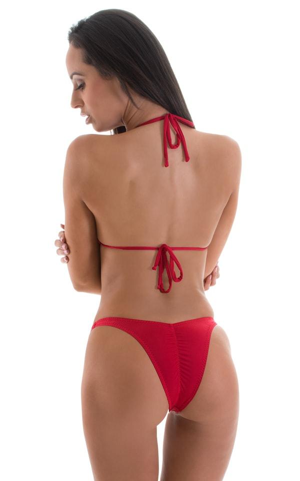 High Cut - Half Back - Scrunchie Bottom in Semi Sheer ThinSkinz Red 1.9