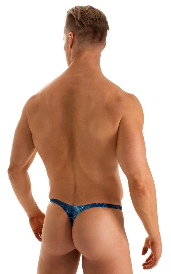 T Back Thong Swimsuit in Super ThinSKINZ Denim Pockets 2