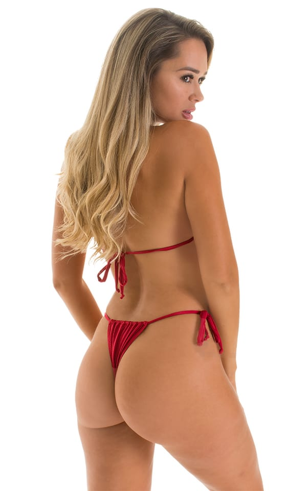 2020 sexy red mini micro adjustable bikini
