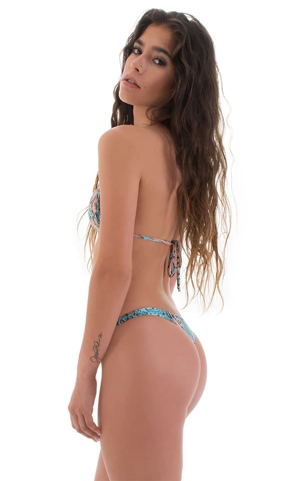 Low T Back Thong Bottom in ThinSKINZ Aqua Python 4