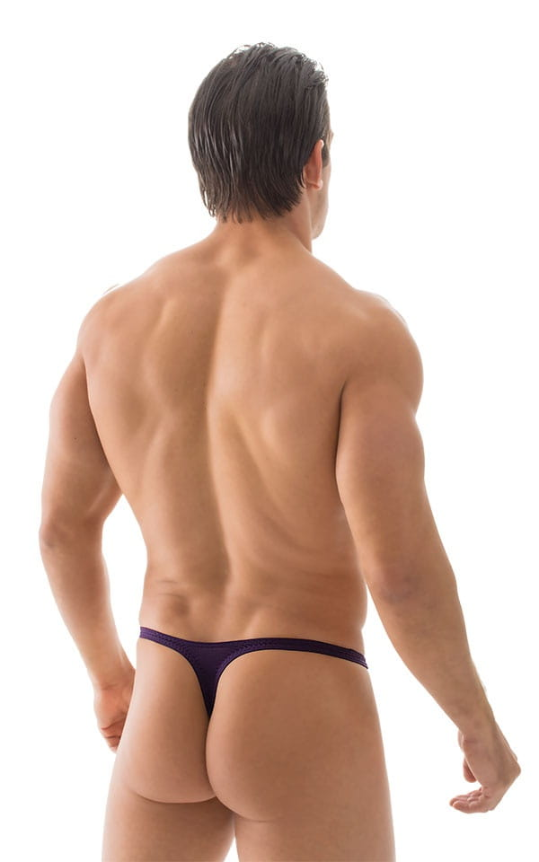 T Back Thong Swimsuit in ThinSkinz Blackberry 3