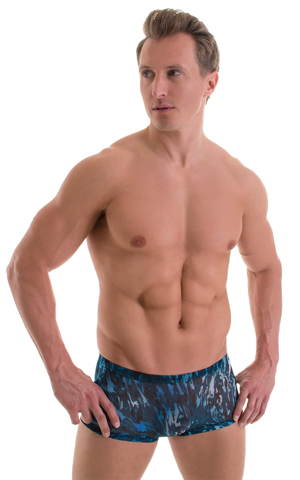 b506bbe347 Extreme Low Square Cut Swim Trunks in Super ThinSKINZ Currents ...