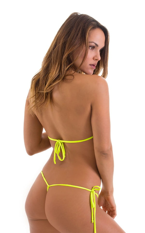 41f28bbf68 Micro G String Side Tie Bikini Bottom in ThinSKINZ Chartreuse ...