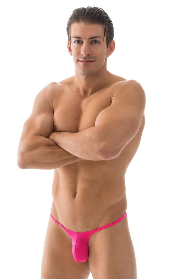 Sunseeker Micro Pouch Half Back Bikini in ThinSKINZ Hot Pink 1