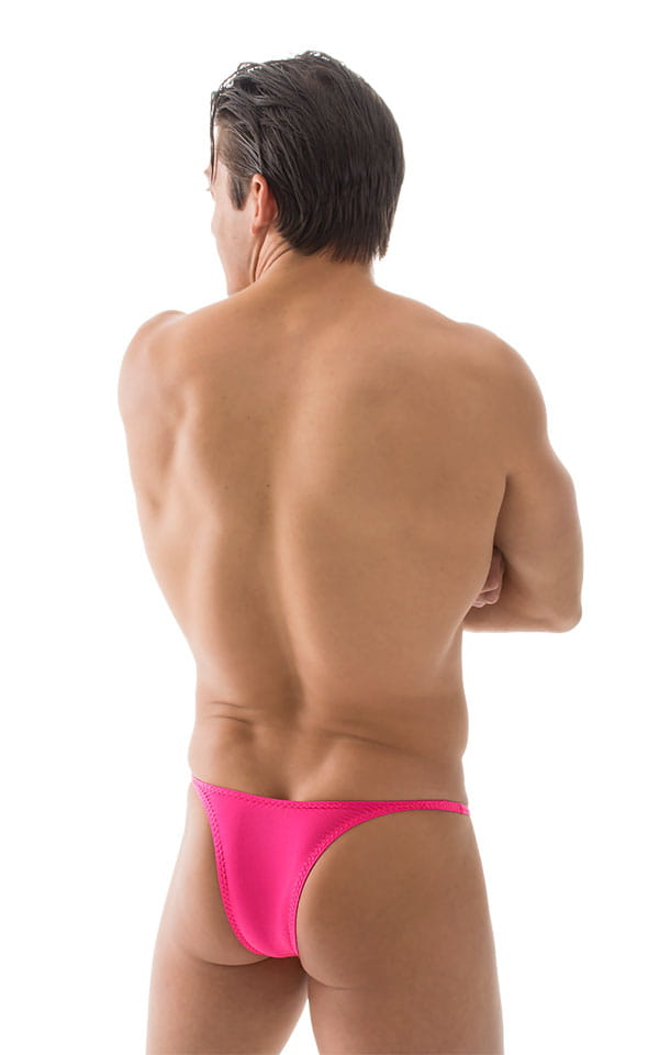 Sunseeker Micro Pouch Half Back Bikini in ThinSKINZ Hot Pink 3