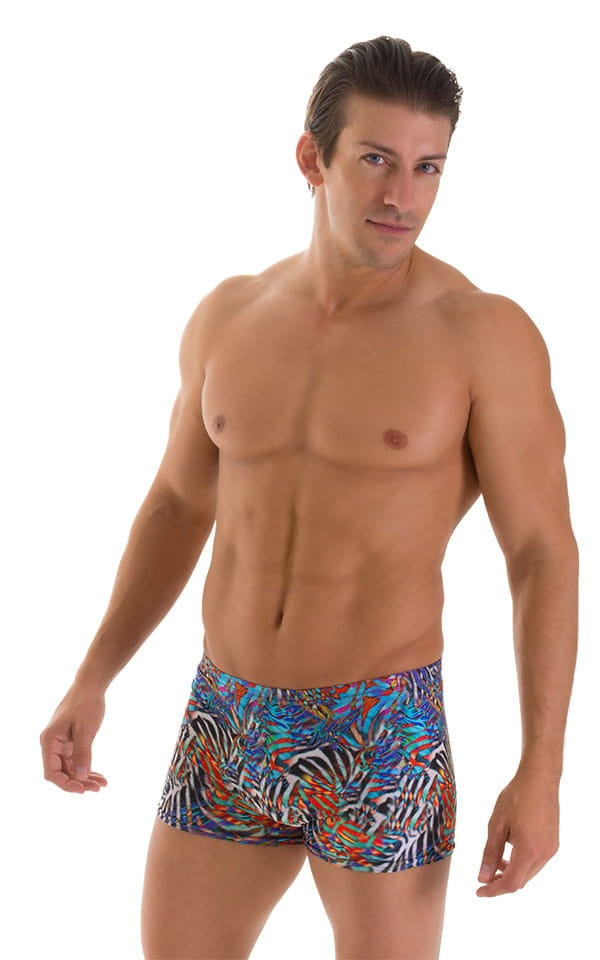Square Cut Seamless Swim Trunks in Super ThinSKINZ Jumanji 1