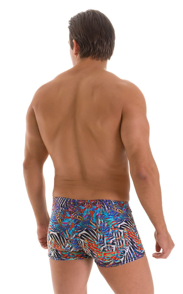 Square Cut Seamless Swim Trunks in Super ThinSKINZ Jumanji 3