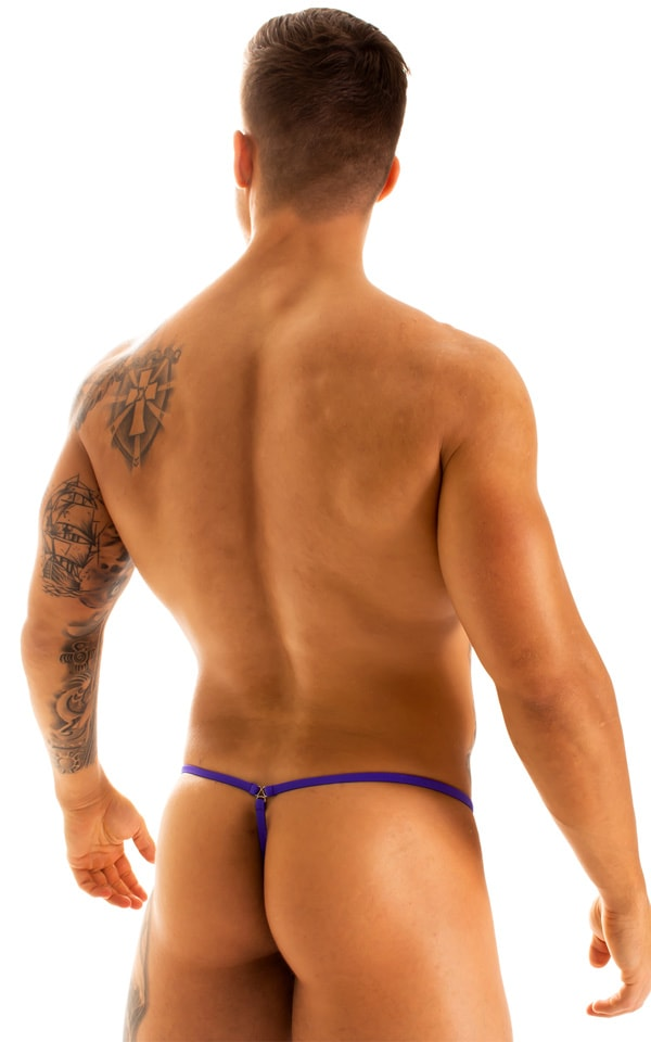 G String Swimsuit - Adjustable Pouch in Phaser on Mesh with Indaco Strings  2