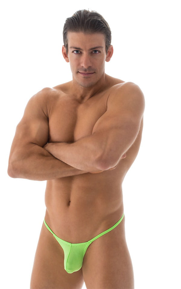 Stuffit Pouch G String Swimsuit in ThinSKINZ Neon Lime 4