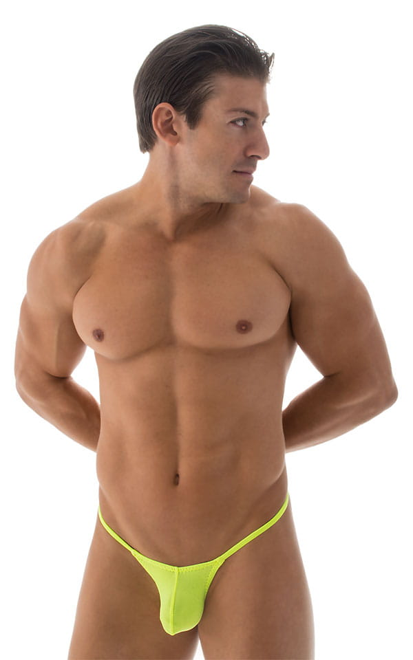 Stuffit Pouch G String Swimsuit in ThinSKINZ Chartreuse 1