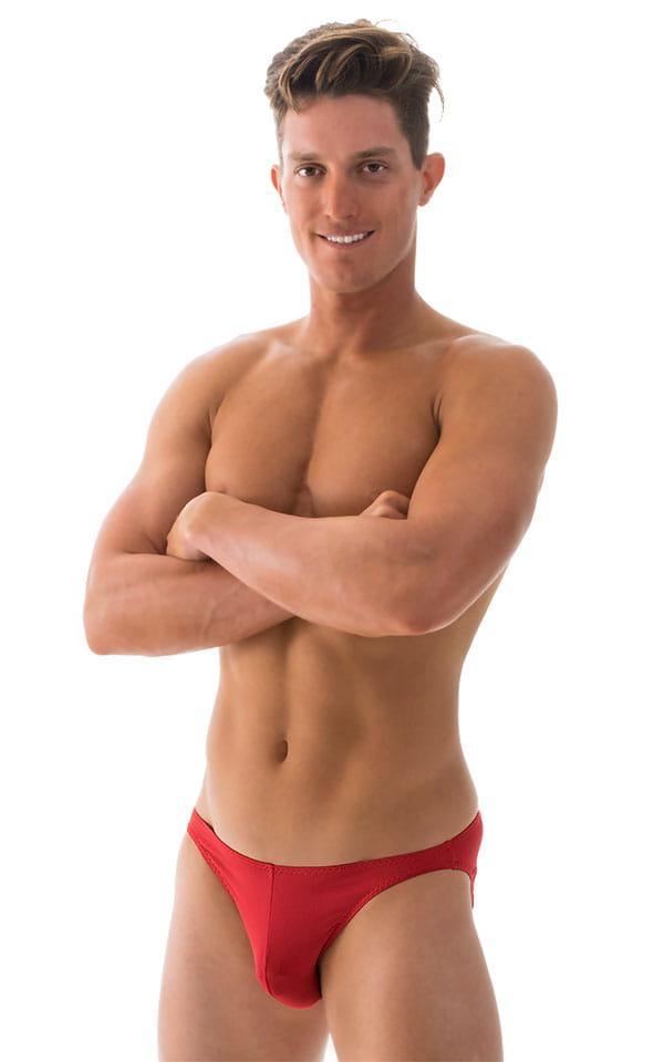 Bikini-Brief Swimsuit in ThinSKINZ Lipstick Red 4