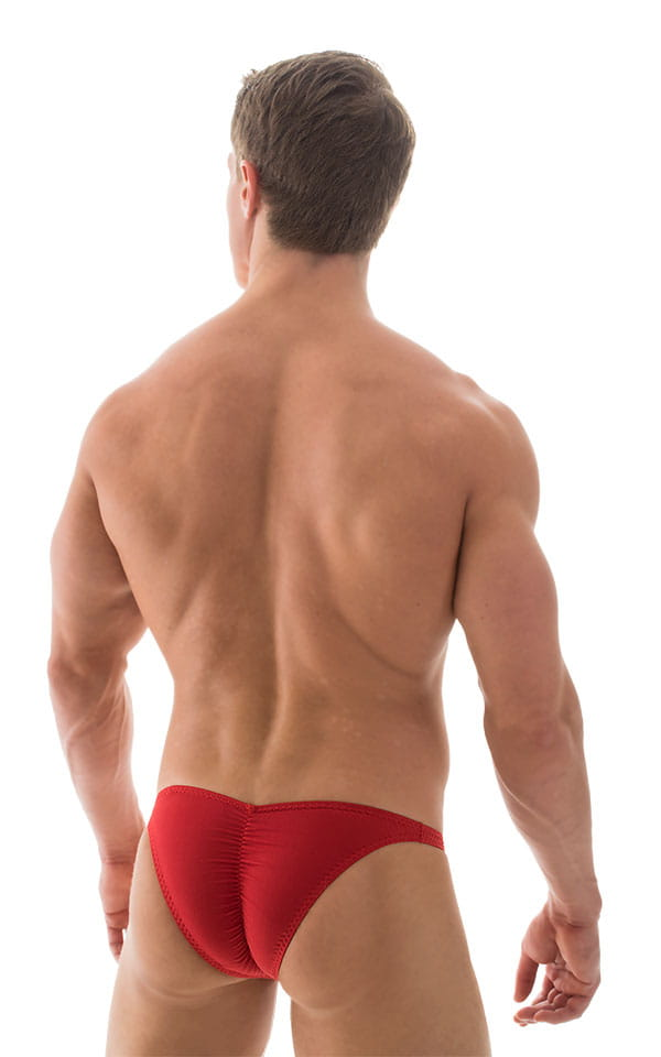 Fitted Pouch Puckered Back Bikini in ThinSKINZ Lipstick Red 3