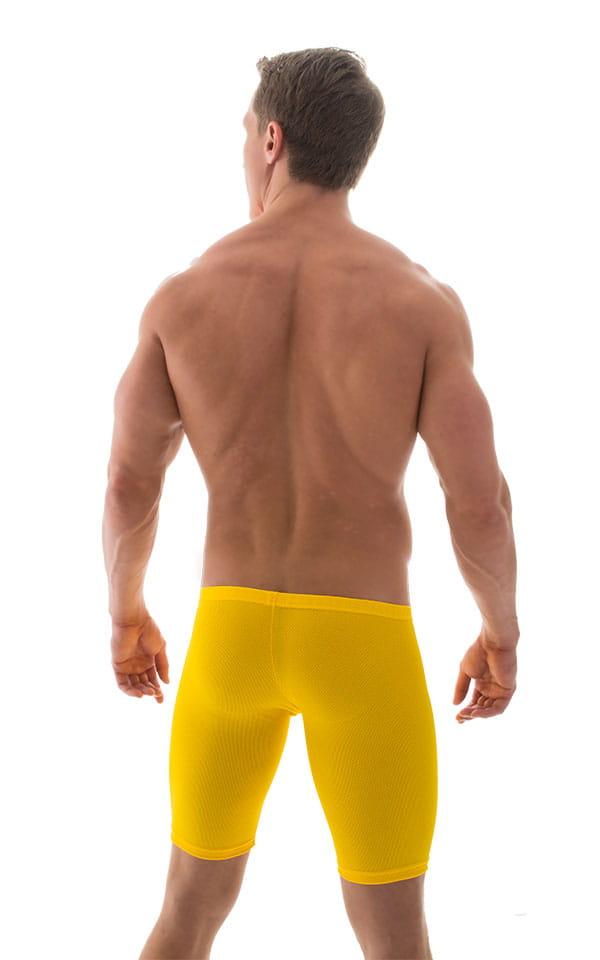 Extreme Lycra Jammer Shorts in GoldenRod Powernet