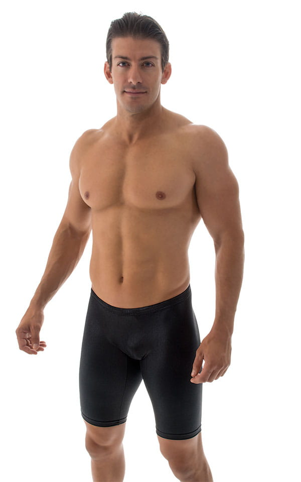 Swim-Dive Competition Watersports Shorts in Wet Look Black 4